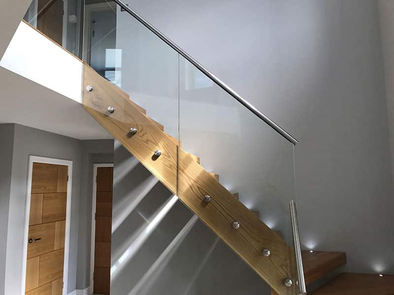 glass handrails on stairs